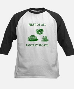 First Of All Fantasy Sports Kids Baseball Jersey