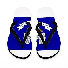 Louisiana Flag Flip Flops