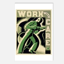 Work With Care WPA Poster Postcards (Package of 8)