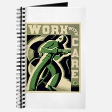 Work With Care WPA Poster Journal