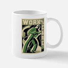 Work With Care WPA Poster Mug