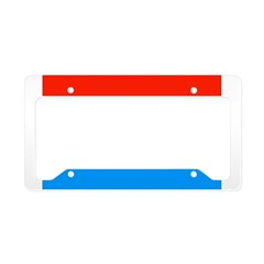 Luxembourg Flag License Plate Holder