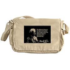 Mark Twain, Right Word, Wrong Word, Messenger Bag