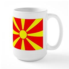 Macedonia Flag Large Mug