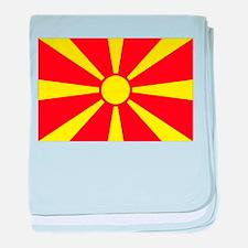 Macedonia Flag baby blanket