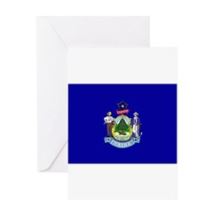 Maine Flag Greeting Card
