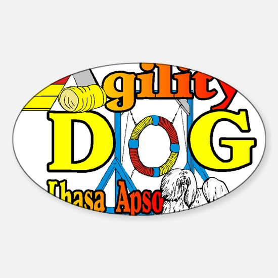 Lhasa Apso Agility Decal