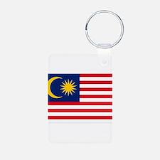 Malaysia Flag Aluminum Photo Keychain