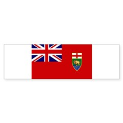Manitoba Flag Bumper Sticker