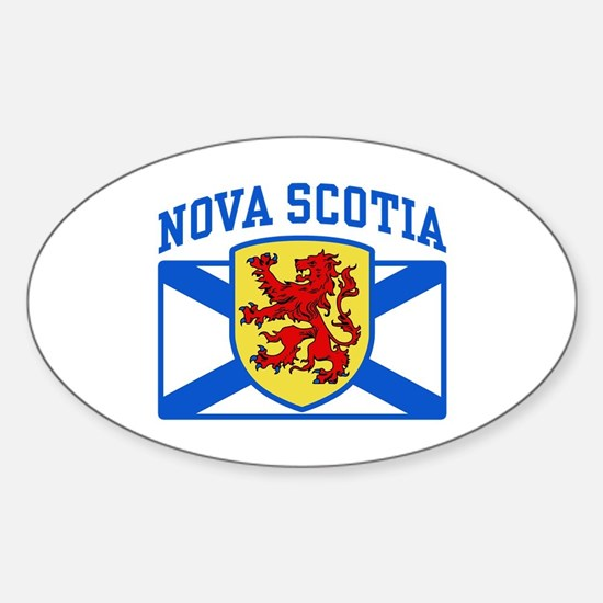 Nova Scotia Sticker (Oval)