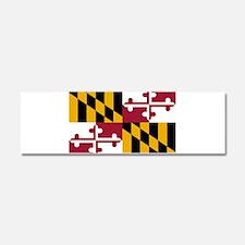 Maryland Flag Car Magnet 10 x 3