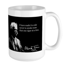 Mark Twain, Funny Cigar Smoker, Mug