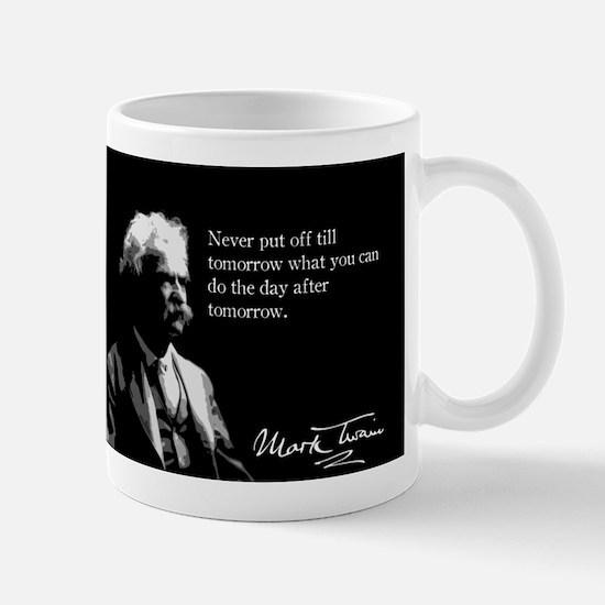 Mark Twain, Procrastination, Mug