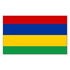 Mauritius Flag Decal