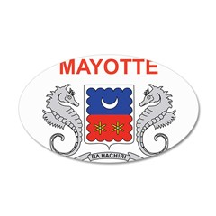 Mayotte Flag 22x14 Oval Wall Peel