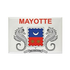 Mayotte Flag Rectangle Magnet (100 pack)