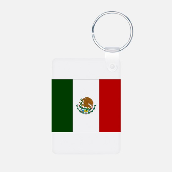 Mexico Flag Aluminum Photo Keychain