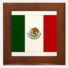 Mexico Flag Framed Tile