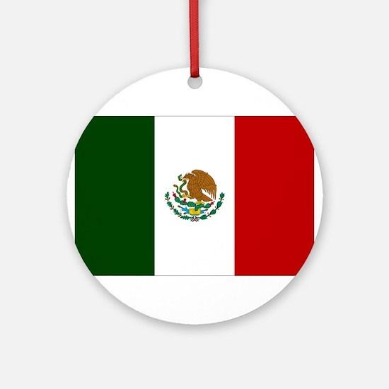 Mexico Flag Ornament (Round)