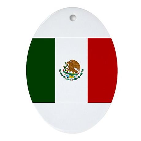 Mexico Flag Ornament (Oval)