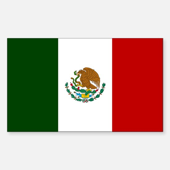 Mexico Flag Sticker (Rectangle)