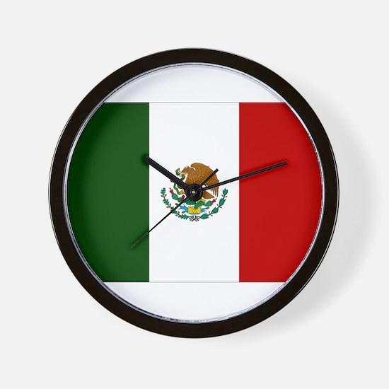 Mexico Flag Wall Clock