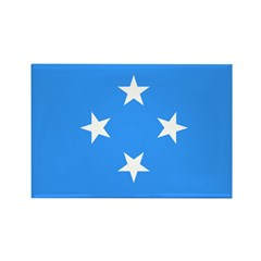 Micronesia Flag Rectangle Magnet