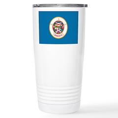 Minnesota Flag Stainless Steel Travel Mug