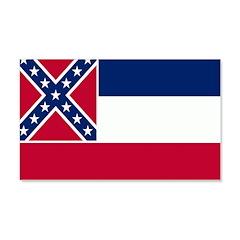 Mississippi Flag 22x14 Wall Peel