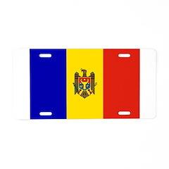 Moldova Flag Aluminum License Plate
