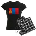 Mongolia Flag Women's Dark Pajamas