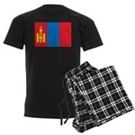Mongolia Flag Men's Dark Pajamas