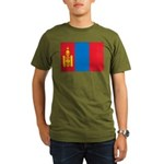 Mongolia Flag Organic Men's T-Shirt (dark)