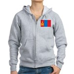 Mongolia Flag Women's Zip Hoodie