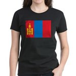 Mongolia Flag Women's Dark T-Shirt