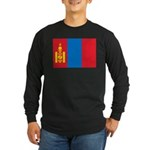 Mongolia Flag Long Sleeve Dark T-Shirt