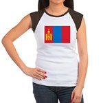 Mongolia Flag Women's Cap Sleeve T-Shirt