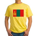 Mongolia Flag Yellow T-Shirt