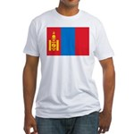 Mongolia Flag Fitted T-Shirt