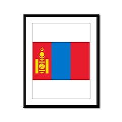 Mongolia Flag Framed Panel Print