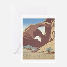 See America WPA Poster Greeting Card