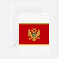 Montenegro Flag Greeting Card