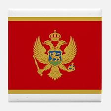 Montenegro Flag Tile Coaster