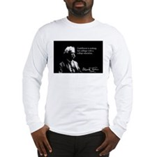 Mark Twain, Cauliflower Quote, Long Sleeve T-Shirt