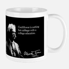 Mark Twain, Cauliflower Quote, Mug