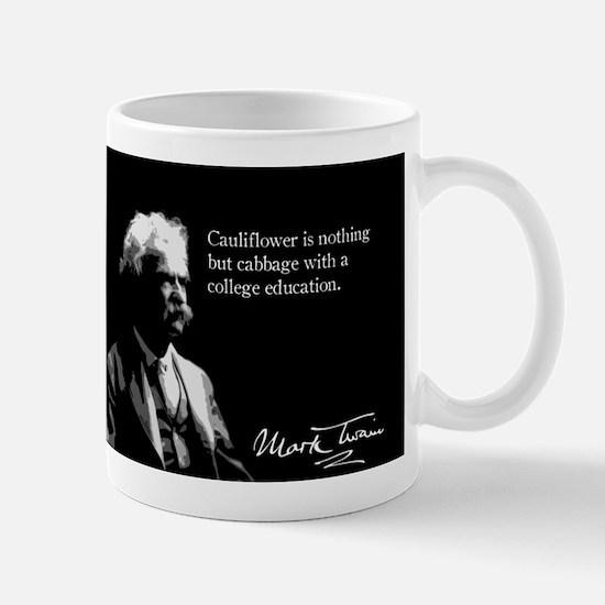 Mark Twain, Cauliflower Quote, Mug