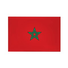 Morocco Flag Rectangle Magnet (100 pack)