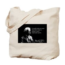 Mark Twain, Impromtu Speech, Tote Bag