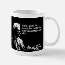 Mark Twain, Approval of Funeral, Mug