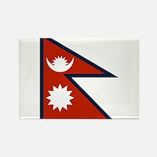 Nepal Flag Rectangle Magnet
